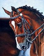 Watercolor. Equine. Bridle Prints - Nobility Print by Amanda  Stewart