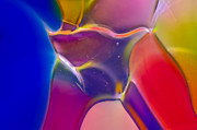 Close Up Glass Art Metal Prints - Noble Colors Metal Print by Omaste Witkowski