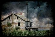 Creepy Digital Art Prints - Nobodys Home Print by Lois Bryan