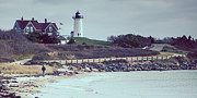 Adam Caron Metal Prints - Nobska Lighthouse Metal Print by Adam Caron