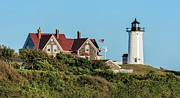 Nobska Lighthouse Woods Hole Cape Cod Ma Print by Marianne Campolongo