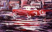 T-bird Painting Framed Prints - Nocternal Bird Framed Print by John  Svenson