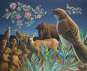 Buffalo Paintings - Nocturnal Cantata by James W Johnson