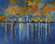 Reflecting Water Paintings - Nocturne by Michael Creese