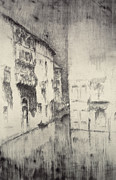 Old Building Metal Prints - Nocturne Palaces Metal Print by James Abbott McNeill Whistler