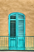 French Quarter Doors Framed Prints - NOLA Balcony Framed Print by Brenda Bryant