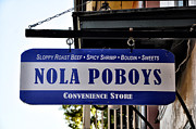 Sandwich Digital Art - Nola Poboys Sign by Bill Cannon