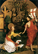 The Resurrection Of Christ Paintings - Noli Me Tangere by Martin Schongauer
