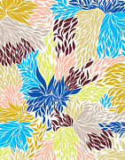 Floral Digital Art - Nolita - cool by Khristian Howell