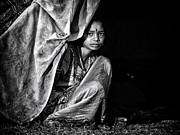 Poor People Photo Prints - Nomadic South Indian Girl  Print by Tim Gainey