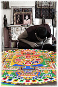 Tibetan Buddhism Metal Prints - Non Attachment - Sand Mandala Metal Print by Steven Cragg
