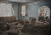 Abandoned House Prints - Non Living Room  Print by Jerry Cordeiro