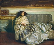 Couch Framed Prints - Nonchaloir Repose Framed Print by John Singer Sargent