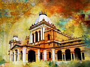 Red Buildings Framed Prints - Noor Mahal Framed Print by Catf