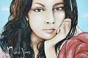Lorri Crossno Metal Prints - Norah Jones Mural II Metal Print by Lorri Crossno