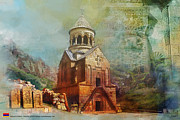 Monasteries Prints - Noravank Church Print by Catf