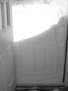 Drifting Snow Prints - Noreaster Outside The Door Print by Patricia Sundik