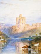 Castle Illustration Framed Prints - Norham Castle An illustration to Marmion by Sir Walter Scott Framed Print by Joseph Mallord William Turner