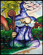 Science Fiction Mixed Media Framed Prints - Norm the Little Old Wizard Framed Print by Richard Tyler
