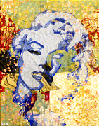Stencil Art Paintings - Norma Jean Be Fading Fast by Bobby Zeik