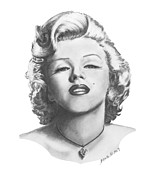 Icon Drawings Posters - Norma Jeane Poster by Marianne NANA Betts