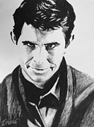 Celebrity Pastels Framed Prints - Norman Bates Framed Print by Jeremy Moore