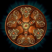 Knotwork Digital Art - Norse Chieftains Shield by Richard Barnes
