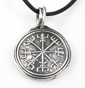 Nautical Jewelry - Norse Viking Nautical Compass Talisman Fine Silver by Esprit Mystique