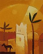 African Art Painting Posters - North Africa Poster by Lutz Baar