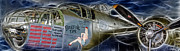 B-52 Posters - North American B-25 Mitchell Bomber  Poster by Lee Dos Santos