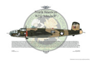Aircraft Artist Framed Prints - North American B-25J Mitchell Framed Print by Arthur Eggers