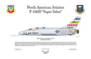 North American Aviation Posters - North American F-100D Poster by Arthur Eggers