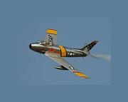 North American F 86 Sabre John Glenn Border Print by L Brown