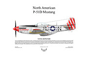 Usaaf Digital Art Posters - North American P-51D Flying Dutchman Poster by Arthur Eggers
