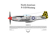 Usaaf Digital Art Posters - North American P-51D SHIMMY IV Poster by Arthur Eggers
