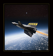X-15 Framed Prints - North American X-15 Framed Print by Larry McManus