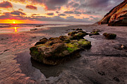Rocky Coast Prints - North Beach Rock II Print by Peter Tellone