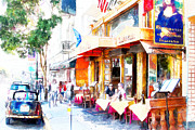 Wingsdomain Art and Photography - North Beach Street Scene Outdoor Dining San Francisco 7d7451wcstyle