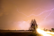 Storm Prints Photo Posters - North Boulder County Colorado Lightning Strike Poster by James Bo Insogna