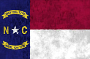 United States Map Digital Art - North Carolina Flag by World Art Prints And Designs