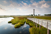 Bodie Island Lighthouse Framed Prints - North Carolina Outer Banks Bodie Island Lighthouse Framed Print by Mark VanDyke