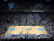 North Carolina Wall Art Prints - North Carolina Tar Heels Dean E. Smith Center Print by Replay Photos