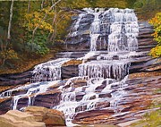 Saluda Paintings - North Carolina Waterfall by Joseph Kotowski