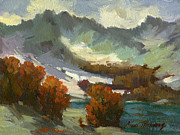North Cascades Paintings - North Cascades Autumn by Diane McClary