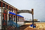 Santa Monica Digital Art Metal Prints - North Entrance Metal Print by Tricia Marchlik