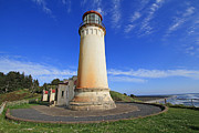 Head Pyrography Framed Prints - North Head Lighthouse - Wide Angle Framed Print by Dave Olsen