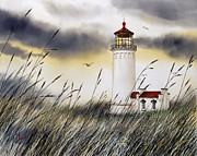 Landscape Framed Prints Painting Posters - North Head Lighthouse Poster by James Williamson