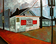 Grill Paintings - North N Tavern by Charlie Spear
