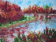 South Of France Painting Originals - North of Paris. Fall by Frederic Payet