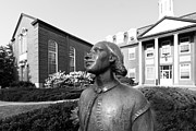 Vikings Photo Prints - North Park College Nyvall Hall Sculpture Print by University Icons